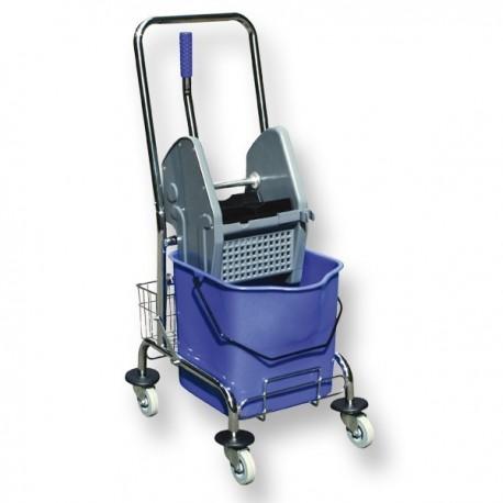 wózek do mycia podłóg z jednym wiadrem chrom