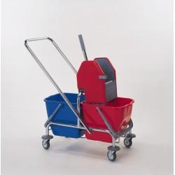 wózek do mycia podłóg z dwoma wiadrami 2x17l