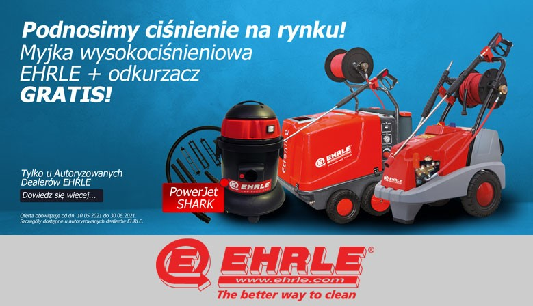 Promocja Myjka Wysokociśnieniowa Ehrle + odkurzacz GRATIS